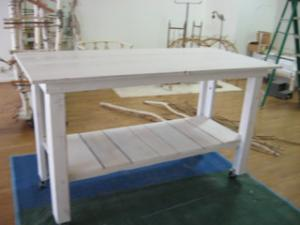 Large Work Table On Casters